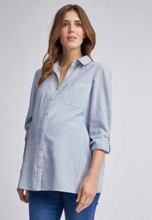 Рубашка Dorothy Perkins Maternity. Цвет: голубой