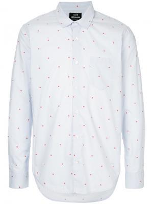 Приталенная рубашка в горох Mads Nørgaard. Цвет: синий