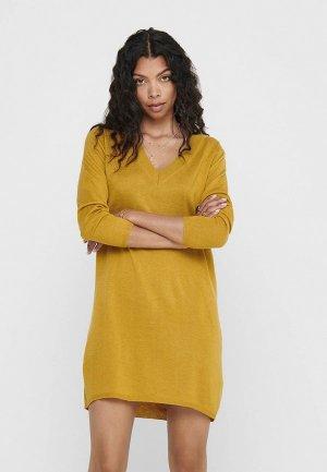 Платье Jacqueline de Yong. Цвет: желтый
