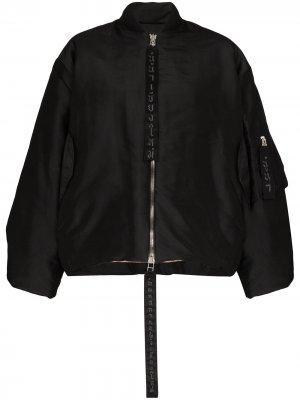 Куртка-бомбер Queens на молнии Carcel. Цвет: черный
