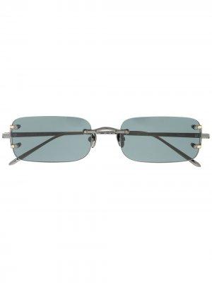 Солнцезащитные очки в прямоугольной оправе Linda Farrow. Цвет: серый