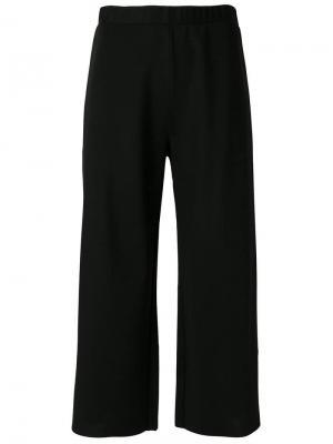 Широкие укороченные брюки Pierantoniogaspari. Цвет: черный