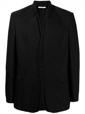 Однобортный пиджак строгого кроя Isabel Benenato. Цвет: черный