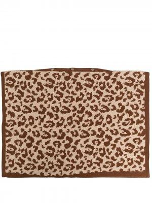 Наволочка с леопардовым принтом AMI AMALIA. Цвет: коричневый