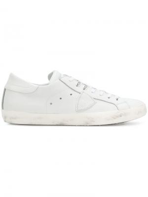 Кроссовки Paris Philippe Model. Цвет: белый