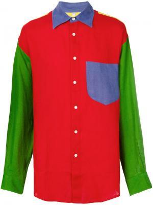 Рубашка дизайна колор-блок JC de Castelbajac Pre-Owned. Цвет: разноцветный