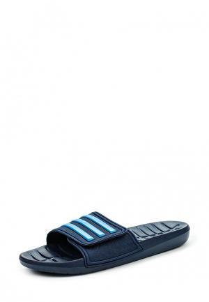 Сланцы adidas Performance. Цвет: синий