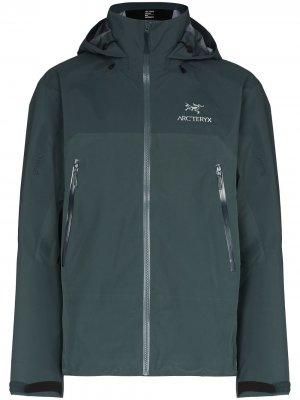 Arcteryx куртка Beta с капюшоном Arc'teryx. Цвет: синий