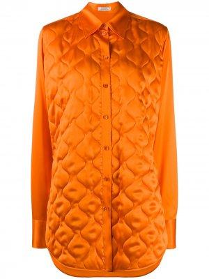 Стеганая удлиненная рубашка Nina Ricci. Цвет: оранжевый