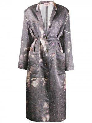 Платье-халат со складками Natasha Zinko. Цвет: серый