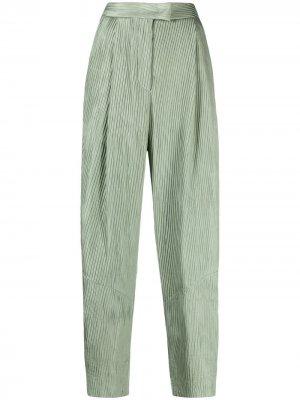 Расклешенные брюки в рубчик Giorgio Armani. Цвет: зеленый