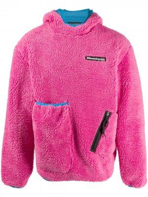 Флисовый пуловер с капюшоном Billionaire Boys Club. Цвет: розовый