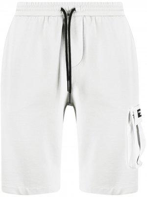 Спортивные шорты с кулиской и нашивкой-логотипом North Sails. Цвет: серый