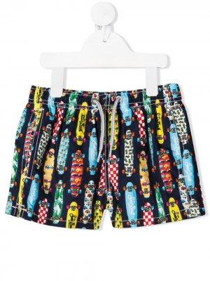 Плавки-шорты с принтом Mc2 Saint Barth Kids. Цвет: разноцветный