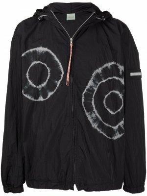 Куртка с графичным принтом Aries. Цвет: черный
