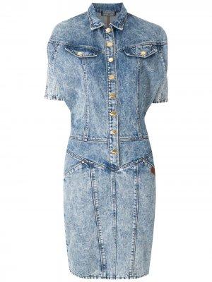 Джинсовое платье Yoná Amapô. Цвет: синий