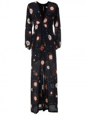 Длинное платье Ametista Isolda. Цвет: черный