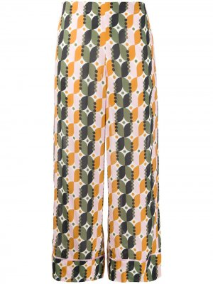 Укороченные брюки с геометричным принтом Altea. Цвет: зеленый