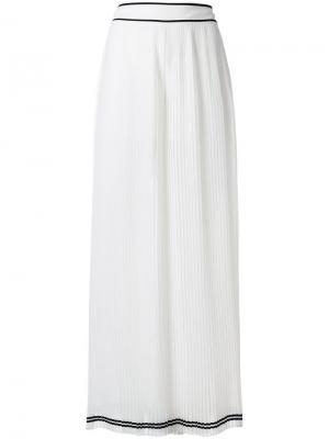 Плиссированные расклешенные брюки Philosophy Di Lorenzo Serafini. Цвет: белый