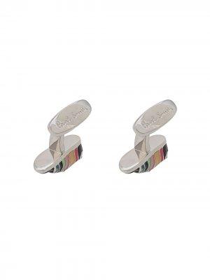Запонки в форме кроссовок Paul Smith. Цвет: серебристый