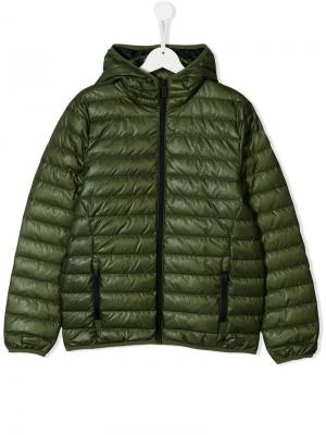 TEEN hooded padded jacket Ciesse Piumini Junior. Цвет: зеленый
