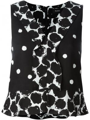 Блузка в горох Proenza Schouler. Цвет: черный
