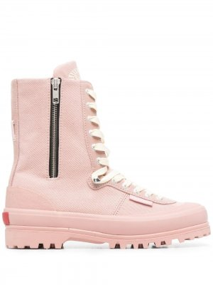 Ботинки на платформе со шнуровкой Superga. Цвет: розовый