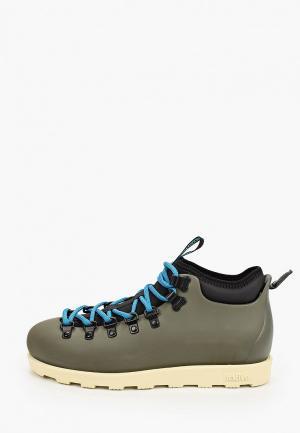 Резиновые ботинки Native. Цвет: хаки