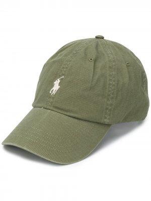 Кепка с вышитым логотипом Polo Ralph Lauren. Цвет: зеленый