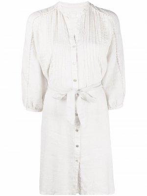 Платье-рубашка с защипами 120% Lino. Цвет: нейтральные цвета