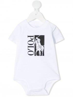 Боди Polo Pony Ralph Lauren Kids. Цвет: белый