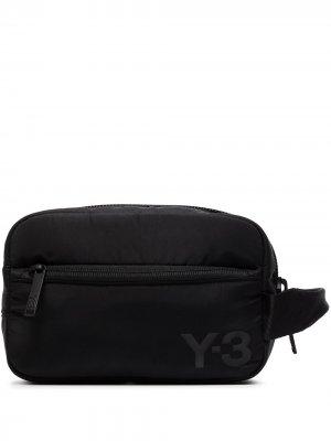 Несессер с логотипом Y-3. Цвет: черный