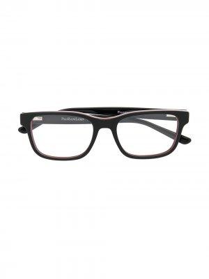 Очки в прямоугольной оправе Polo Ralph Lauren. Цвет: черный