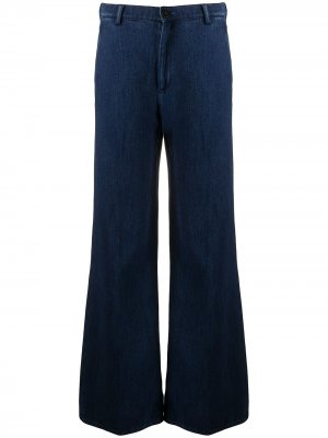 Широкие джинсы Forte. Цвет: синий