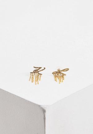 Серьги Karl Lagerfeld. Цвет: золотой