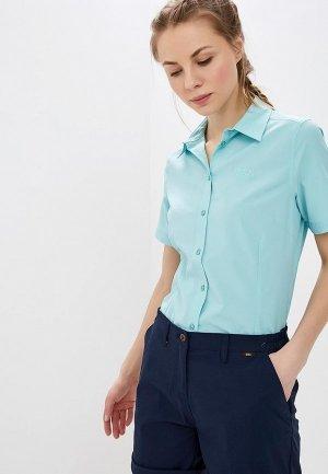 Рубашка Jack Wolfskin. Цвет: голубой