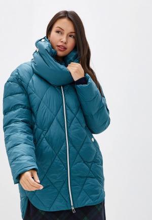 Куртка утепленная Odri Mio. Цвет: бирюзовый