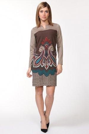 Платье Profito Avantage. Цвет: бежевый
