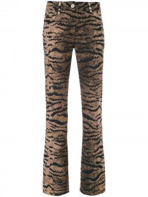 Расклешенные брюки с тигровым принтом Giambattista Valli. Цвет: коричневый