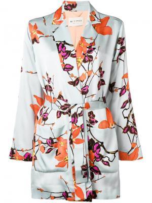 Пиджак-кимоно с принтом Etro. Цвет: синий