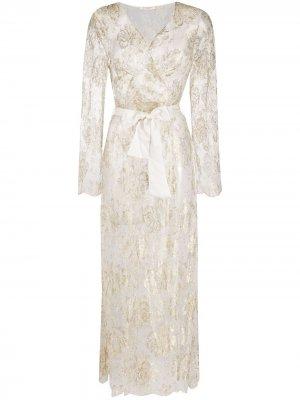 Прозрачный халат Reverie Gilda & Pearl. Цвет: белый