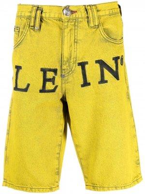 Джинсовые шорты Mykonos-fit Philipp Plein. Цвет: желтый
