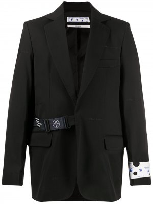 Пиджак с застежкой на ремешке Off-White. Цвет: черный