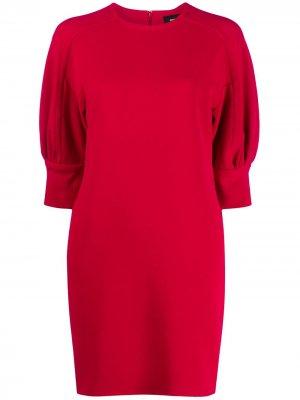 Платье мини с короткими рукавами Dsquared2. Цвет: красный