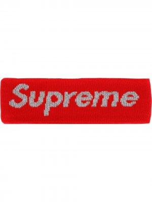 Повязка на голову из коллаборации с New Era Supreme. Цвет: красный
