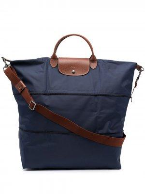 Многослойная сумка-тоут Le Pilage Longchamp. Цвет: синий