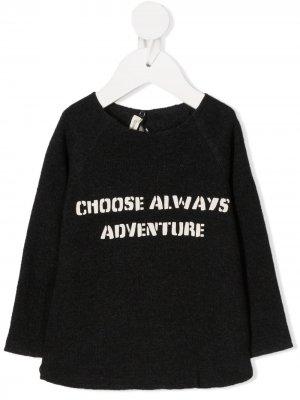 Толстовка Adventure с рукавами реглан Zhoe & Tobiah. Цвет: серый