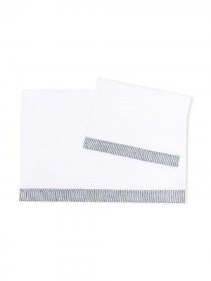Комплект одеял с контрастными полосками Il Gufo. Цвет: белый