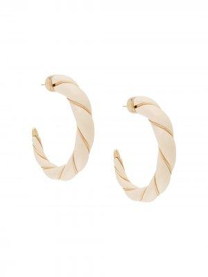 Золотые серьги-кольца Diana Aurelie Bidermann. Цвет: нейтральные цвета