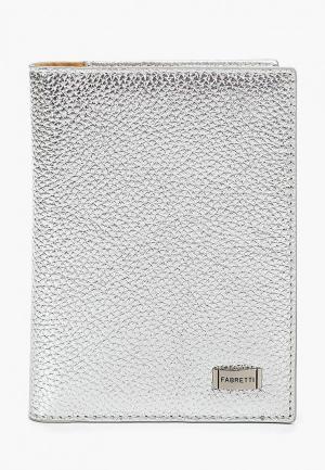 Обложка для паспорта Fabretti. Цвет: серебряный